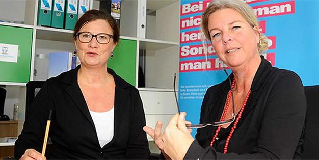 Marlene Kretz und Barbara Lüke-Kreutze, die bundesweit erfolgreichsten Willkommenslotsen
