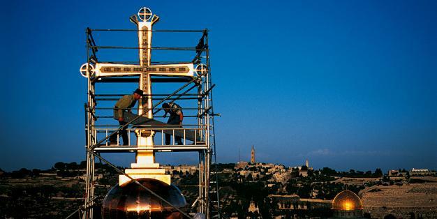 Das Golgotha Kreuz der Grabeskirche in Jerusalem - Gustav Kühnel, Paul Nagel, Michael Hammers  Foto: Markus Bollen
